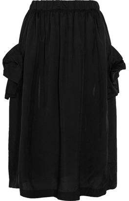 Comme des Garçons Comme des Garçons - Bow-detailed Taffeta Midi Skirt - Black $455 thestylecure.com