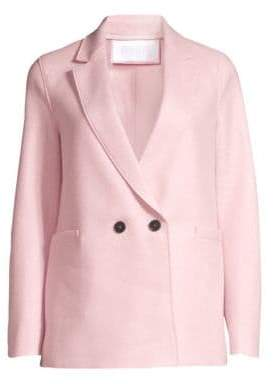 Harris Wharf London Boxy Wool Blazer Coat