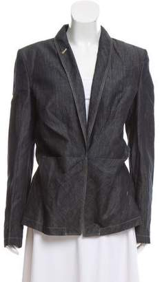 Jean Paul Gaultier Denim Pointed-Collar Blazer