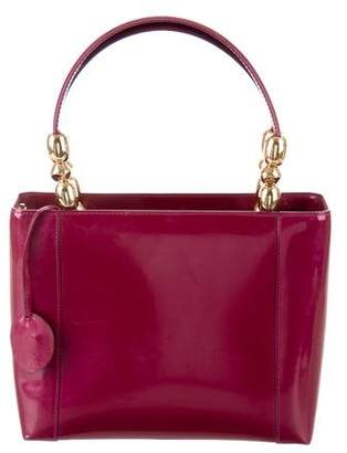 Christian Dior Patent Leather Top Handle Bag