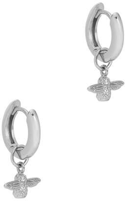 Olivia Burton 3D Bee Silver-plated Hoop Earrings