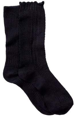 Steve Madden Textured Boot Socks - Pack of 2
