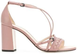 Bottega Veneta desert rose nappa cherbourg sandal