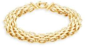 14K Yellow Gold Multi-Row Chain Link Bracelet