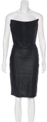 Gareth Pugh Strapless Leather Mini Dress w/ Tags