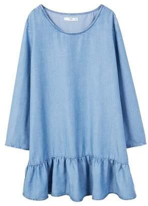 MANGO Frills denim dress