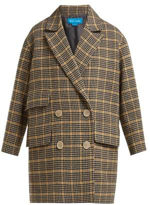 MiH Jeans Ryley Double Breasted Wool Blend Coat - Womens - Beige Multi