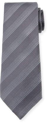 Giorgio Armani Degraded Stripe Silk Tie, Dark Gray