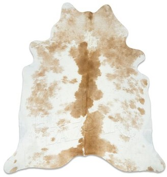Union Rustic Goins Cowhide Palomino/White Area Rug Union Rustic