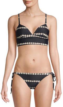 Derek Lam 10 Crosby Printed Bikini Top