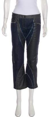 Versace Mid-Rise Raw-Edge Jeans
