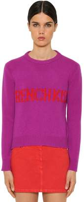 Alberta Ferretti French Kiss Wool Intarsia Sweater