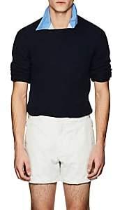 Prada Men's Stockinette-Stitched Cashmere Sweater - Navy