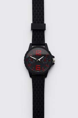 boohoo Silicone Sport Face Watch