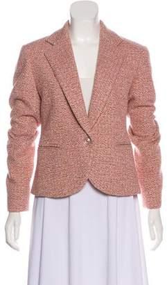 Lafayette 148 Silk-Trimmed Tweed Blazer
