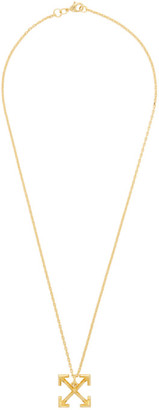 Off-White Gold Small Arrow Necklace