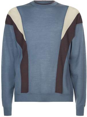 Wooyoungmi Contrast Panel Sweater