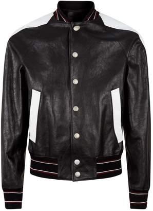 Givenchy Leather Varsity Bomber Jacket