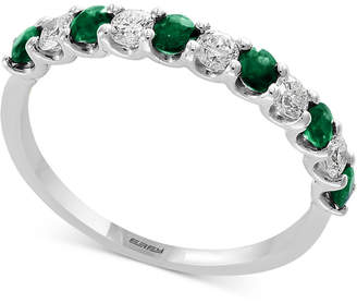 Effy Gemstone Bridal by Sapphire (1/2 ct. t.w.) & Diamond (1/4 ct. t.w.) Band in 18k White Gold