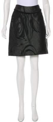 Nina Ricci Jacquard Knee-Length Skirt