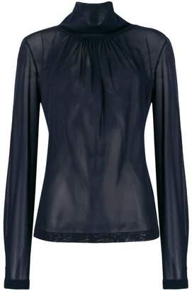 Victoria Beckham high neck chiffon blouse