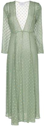 Sunbeam We Are Leone embroidered silk maxi cardigan