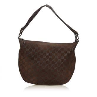 Gucci Vintage Hobo Brown Suede Handbag