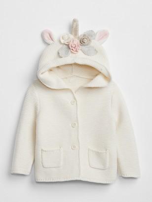 Gap Baby Brannan Bear Garter Unicorn Sweater