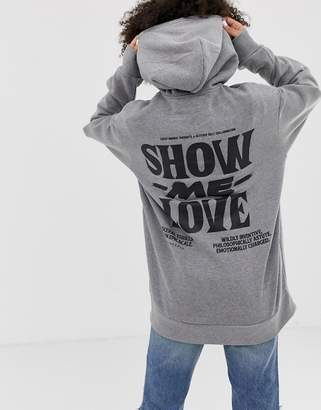 Cheap Monday love oversized hoodie with organic cotton