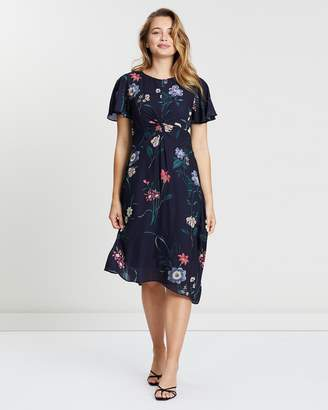 Oasis Lydia Lilly Twist Front Midi Dress