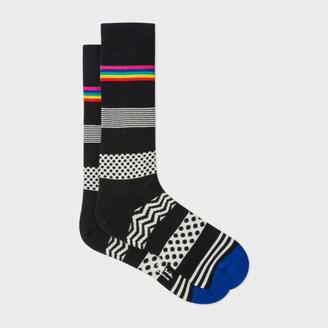 Men's Black 'Mixed Bag' Block Stripe Socks $30 thestylecure.com