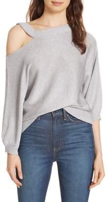 Alice + Olivia Annita Slit Neck Cold Shoulder Sweater