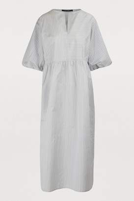 Sofie D'hoore Demand Silk Pinstripe Dress