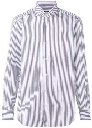 Barba striped point-collar shirt