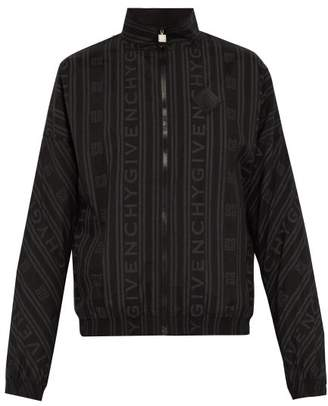 Givenchy Logo Print Zip Through Jacket - Mens - Black