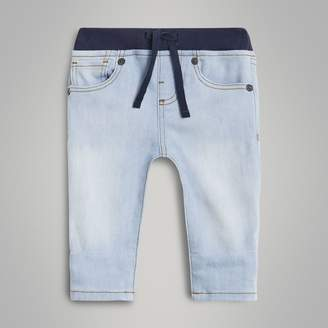Burberry Childrens Relaxed Fit Pull-on Stretch Denim Jeans