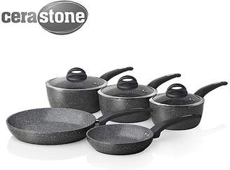 Tower 5 Piece Forged Pan Set with Cerastone Coating - Graphite