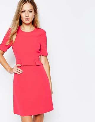 Whistles Ali A-Line Dress in Hot Pink $211 thestylecure.com