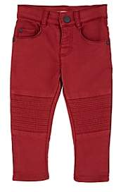 Ikks Infants' City Rock Washed Slim Moto Jeans-Red