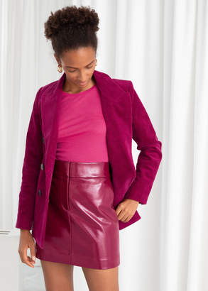 And other stories Patent Fitted Mini Skirt