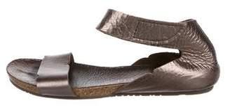 Pedro Garcia Metallic Ankle Strap Sandals