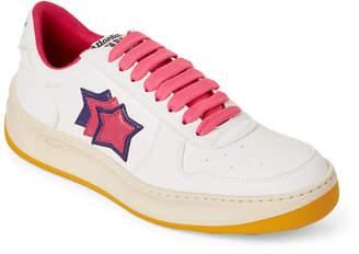 Atlantic Stars White & Fuchsia Maya Eco Low-Top Sneakers