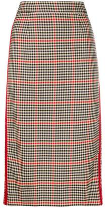 P.A.R.O.S.H. checkered print pencil skirt