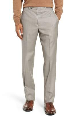 John W. Nordstrom R) Traditional Fit Flat Front Solid Wool Trousers