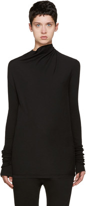 Rick Owens Drkshdw Black Bonnie T-Shirt $320 thestylecure.com