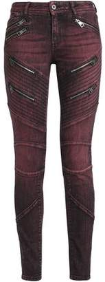 Just Cavalli Zip-Detailed Low-Rise Skinny Jeans