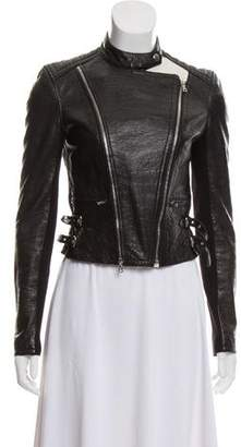 Yigal Azrouel Embossed Leather Moto Jacket