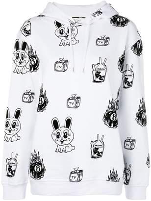 McQ bunny printed longsleeved hoodie rawst