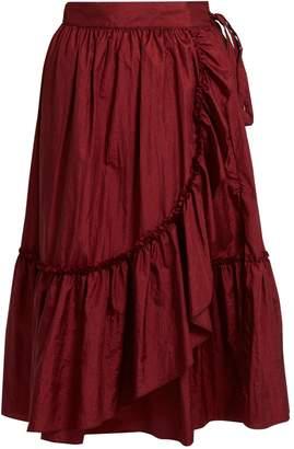 RACHEL COMEY Bossa ruffled-detail midi skirt $322 thestylecure.com