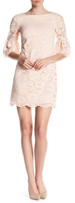 Vince Camuto Sheer Floral Lace Mini Dress